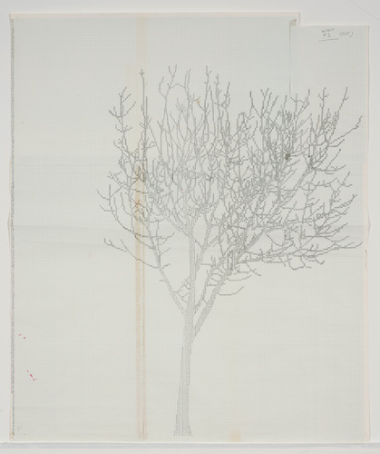 """Working Drawings for Numbers and Trees #6"" by Charles Gaines"